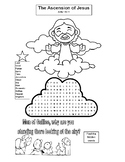 ASCENSION COLORING, BUNDLE 9 PAGES, ASCENSION WORD SEARCH,