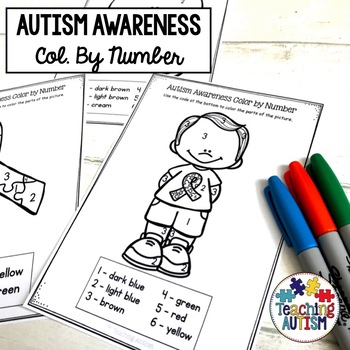 Autism Awareness Colour by Number / Color by Number