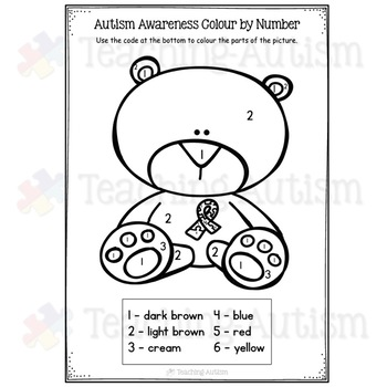 Autism Awareness Coloring Colouring