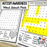Autism Awareness Word Search Activities