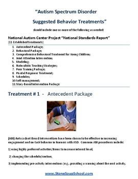 Autism Spectrum Educational Treatments