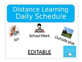 Autism Daily Schedule / Behavior Chart / Distance Learning