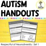 Autism Handouts - Parent Handouts for ASD - Neurodiversity