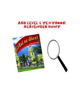 ASD Level 2 Textbook Scavenger Hunt