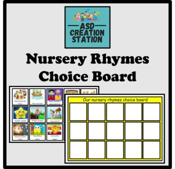 ASD Nursery Rhyme Choice Board
