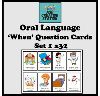 ASD/ S&L 'when' question cards x32