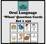 ASD/ S&L 'when' question cards x32