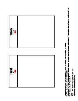 ASD Visual Supports: Need a break/Ready to work and First/Then cards