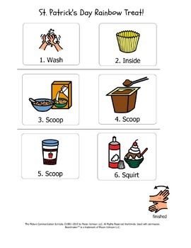 ASD Visuals: St. Patrick's Day Cooking Activity