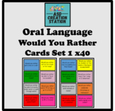 """ASD """"Would you rather"""" question cards x40, S&L, Oral language game"""
