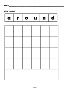 ASD adapted second  grade Dolch Site words