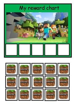 ASD token reward board: Minecraft theme