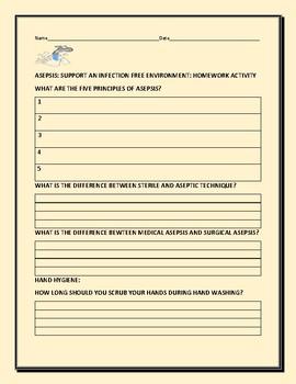 ASEPSIS: HOMEWORK ACTIVITY
