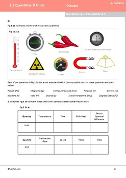 ASESK GCSE Physics Resource 1.1 - Quantities and Units