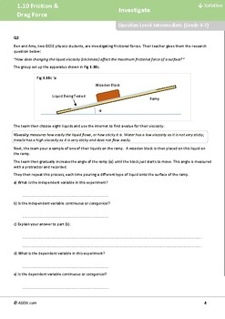 ASESK GCSE Physics Resource 1.10 - Friction and Drag Force