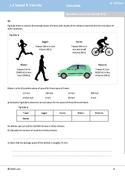 ASESK GCSE Physics Resource 1.2 - Speed and Velocity