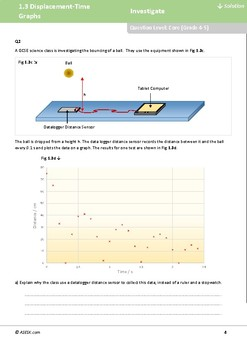 ASESK GCSE Physics Resource 1.3 - Displacement-Time Graphs
