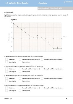ASESK GCSE Physics Resource 1.5 - Velocity-Time Graphs