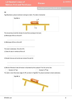 ASESK GCSE Physics Resource 1.6 - Newton's 1st and 3rd Laws