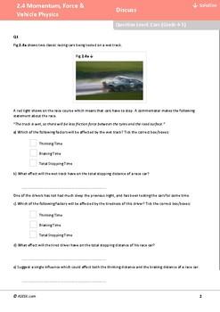 ASESK GCSE Physics Resource 2.4: Momentum, Force and Vehicle Physics