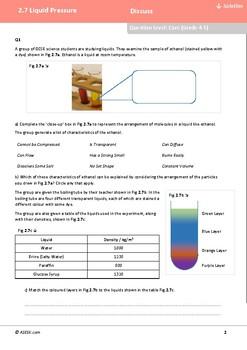 ASESK GCSE Physics Resource 2.7: Liquid Pressure