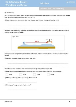ASESK GCSE Physics Resource 3.2: Calculating Energy - Work Done and Power