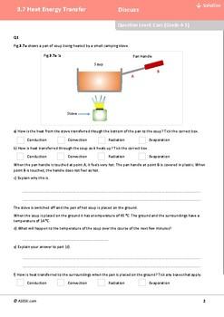 ASESK GCSE Physics Resource 3.7: Heat Energy Transfer
