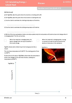 ASESK GCSE Physics Resource 3.9: Calculating Energy - Latent Heat