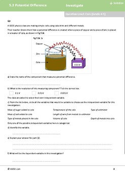 ASESK GCSE Physics Resource 5.3: Potential Difference