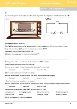 ASESK GCSE Physics Resource 5.5: Types of Resistor