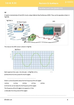 ASESK GCSE Physics Resource 5.8: AC & DC