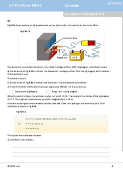 ASESK Physics Resource 6.3: The Motor Effect