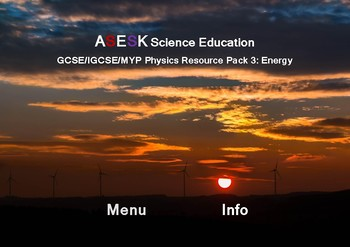 ASESK Physics Resource Pack 3 - Energy