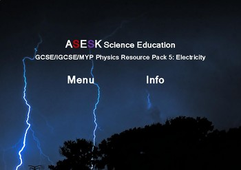 ASESK Physics Resources Pack 5 - Electricity