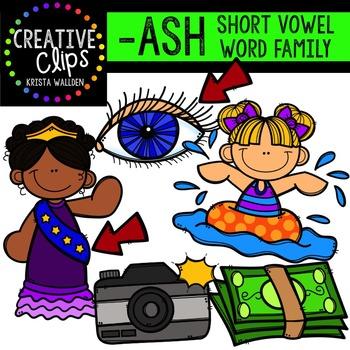 ASH Short A Word Family {Creative Clips Digital Clipart}