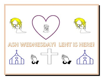 ASH WEDNESDAY & LENT: COLORING PAGE!