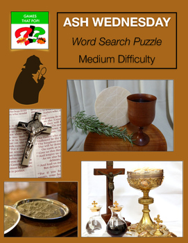 ASH WEDNESDAY Word Search Puzzle - Catholic Word Search - medium Christian