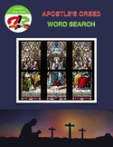 Apostle's Creed Prayer Word Search Puzzles with Hidden Message - 3 Levels