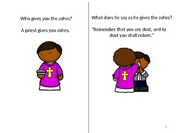 ASH WEDNESDAY and LENT Interactive Book in Color & in Black and white