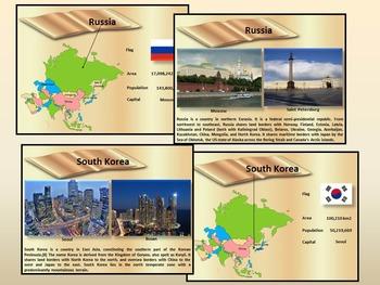 Asia - Countries - China - India - Japan - Vietnam - Nepal  - Russia  - Turkey..