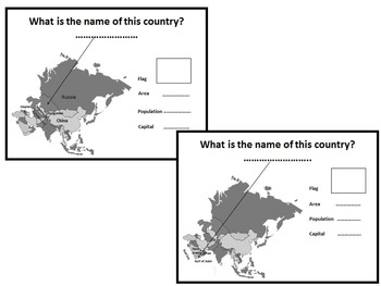 Asia - Countries - China - India - Japan - Vietnam - Russia - Worksheets....