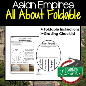 ASIAN EMPIRES Activity, All About Foldable (Interactive Notebook)