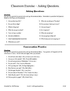 ASL 1 - Conversational Practice