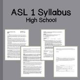 ASL 1 Course Syllabus