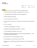ASL 1 - Worksheet Unit 1, pgs. 3-21 Questions for Master ASL!