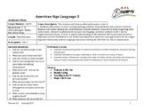 ASL 2 Curriculum Framework Updated