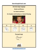 ASL American Sign Language 20 Everyday Phrases -Students D