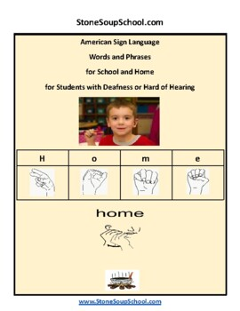 ASL American Sign Language 20 Everyday Phrases -Students Deaf or Hard of Hearing