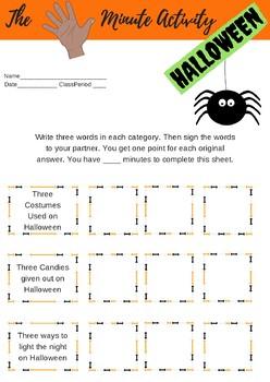 ASL 5-Minute Activity Halloween