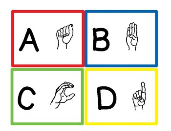 ASL ABC Flash Cards